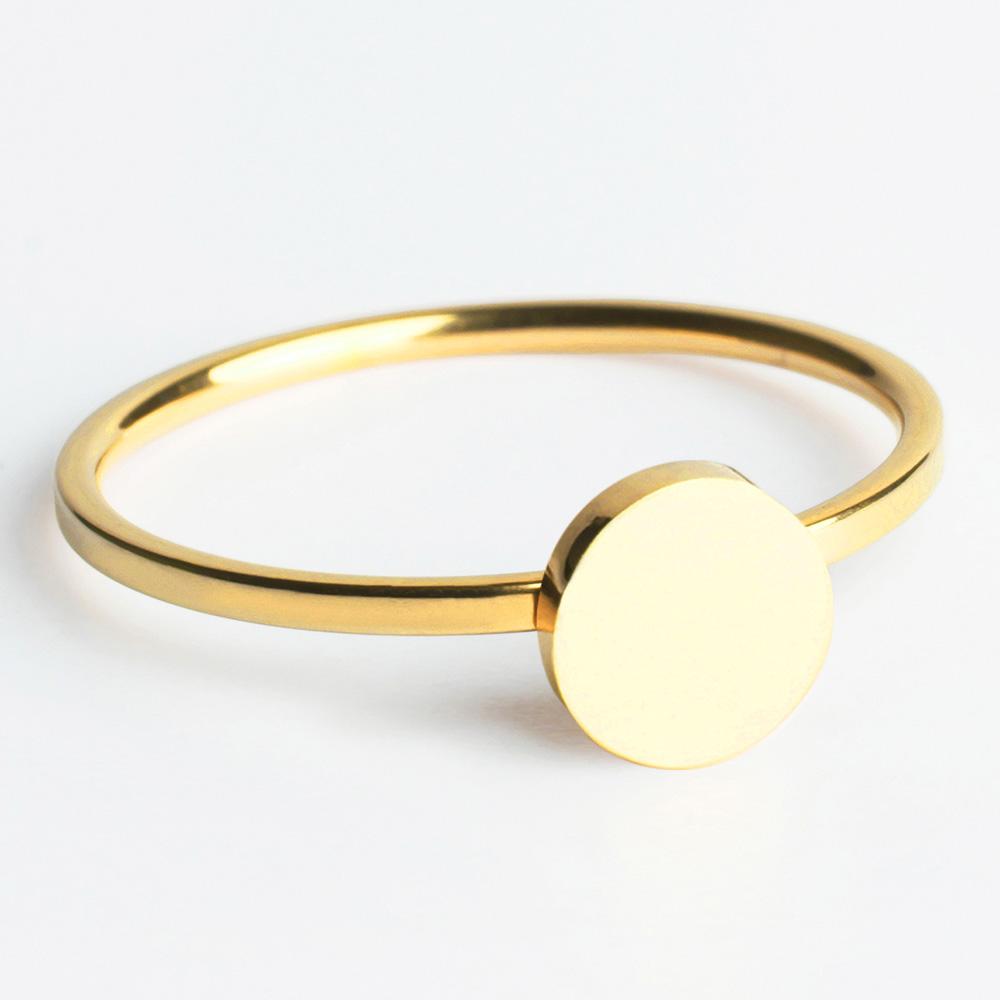 alexascha edelstahl ring gold 2
