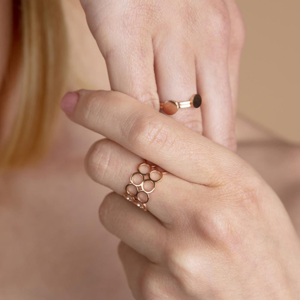 alexascha edelstahl ring rosegold
