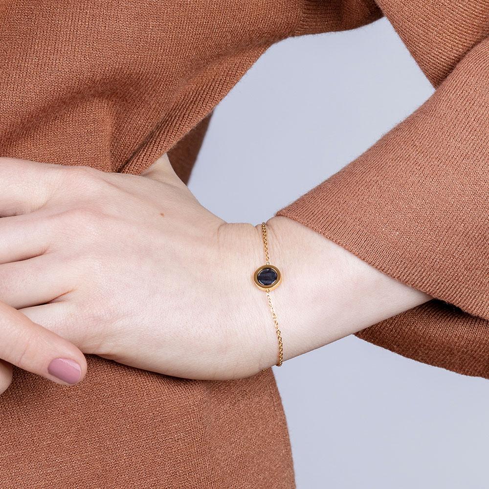 alexascha goldarmband schwarze perle