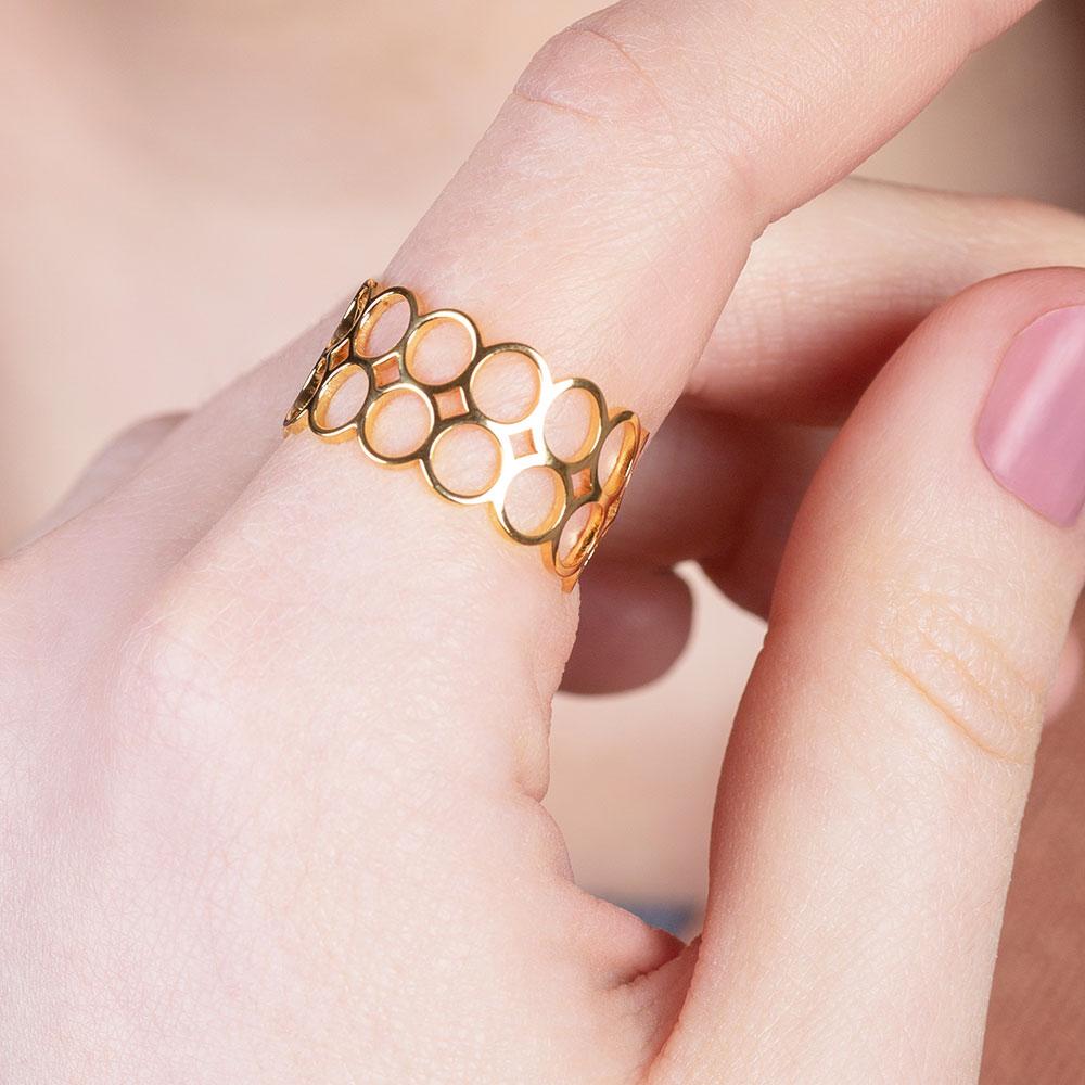 alexascha offener gold ring