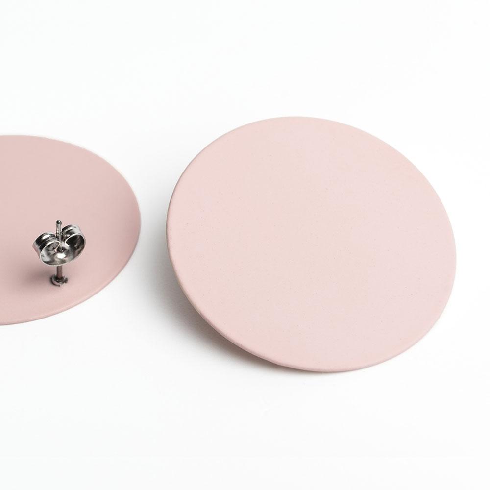 alexascha runde statement ohrringe rosa