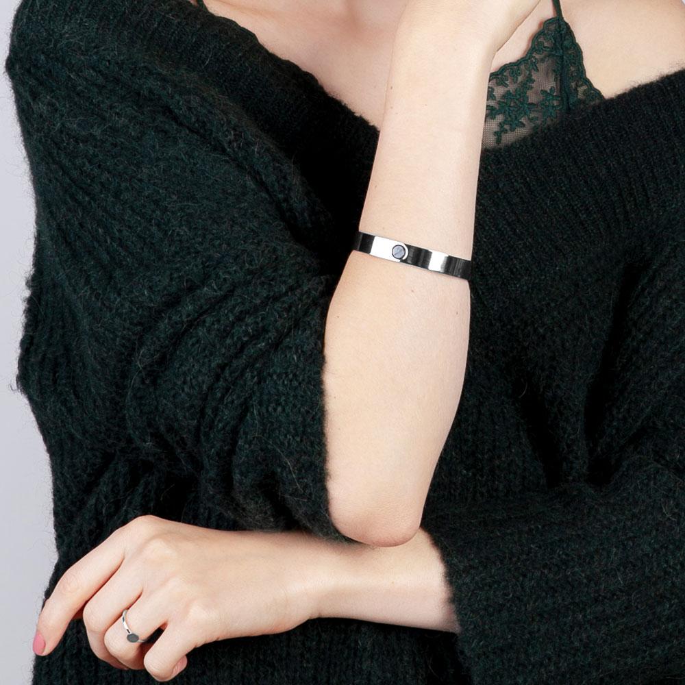 alexascha schmuckset silber armreif ring schwarz