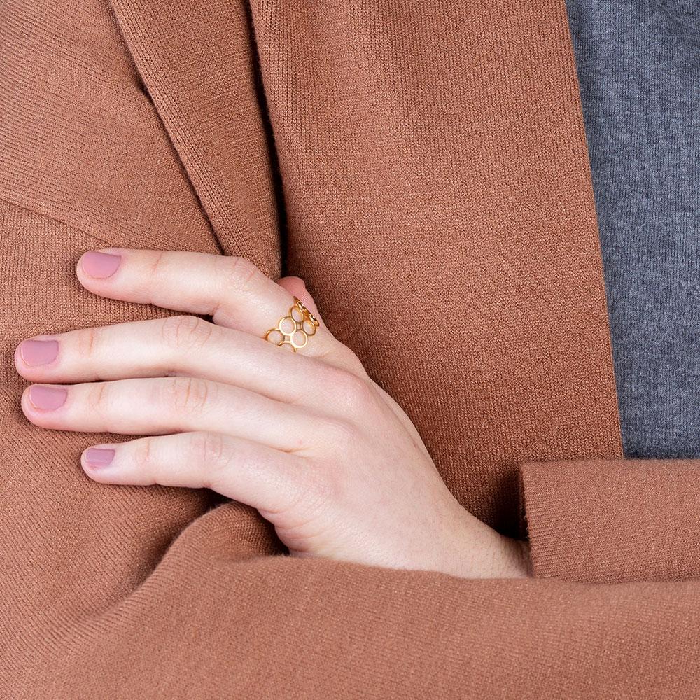 alexascha verstellbarer gold ring