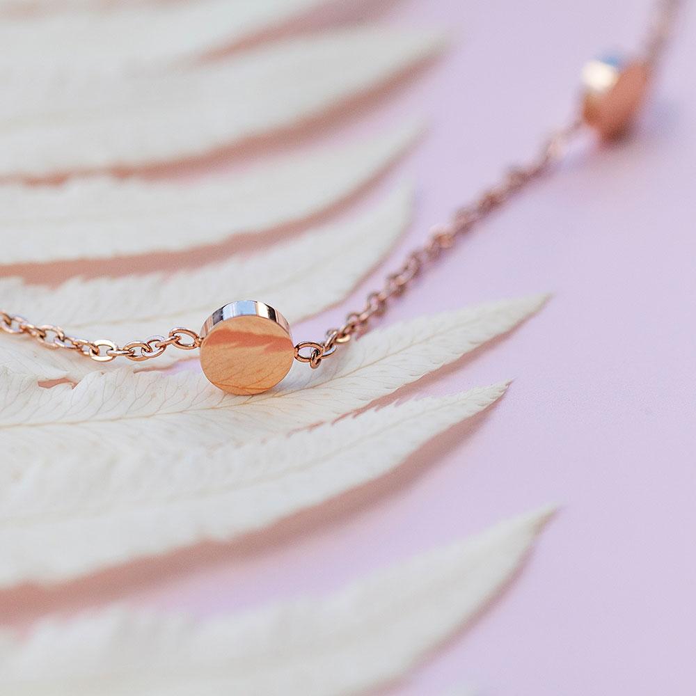 rosegold halskette mit muenzen