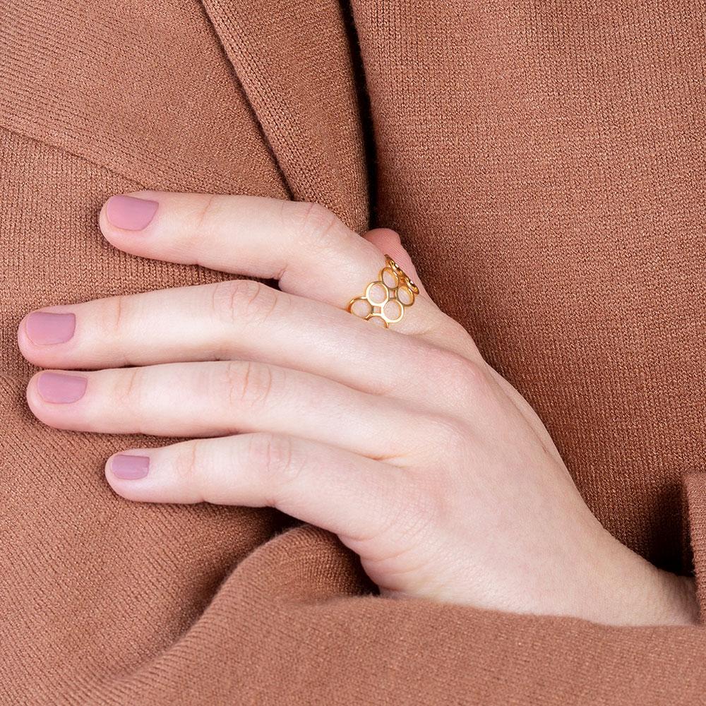 verstellbarer gold ring