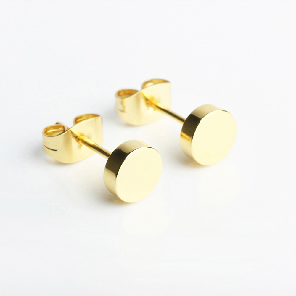 alexascha runde kreis ohrstecker gold